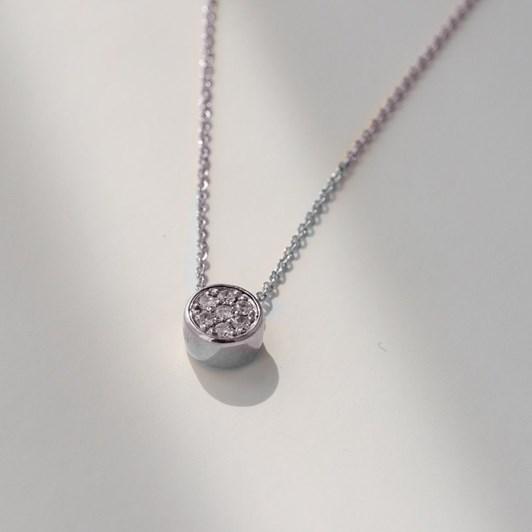 Love In A Jewel The Chic Pendant (White Gold) Diamonds & White Gold Chain