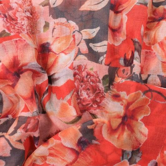 Dlux Vivienne Flowers Print Soft Cotton Scarf