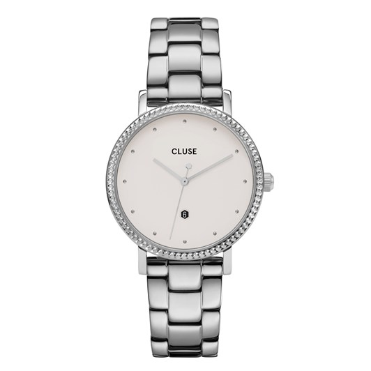 Cluse Le Couronnement 3-Link Silver Winter White/Silver
