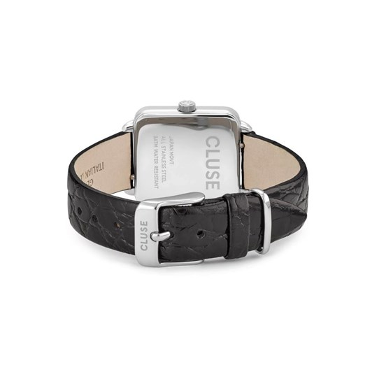 Cluse La Tétragone Leather Silver Black/Black Alligator