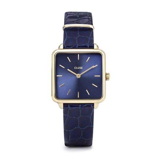 Cluse La Tétragone Leather Gold Blue/Blue Alligator