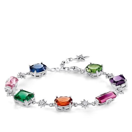 Thomas Sabo Bracelet Colourful Stones with Silver Stars