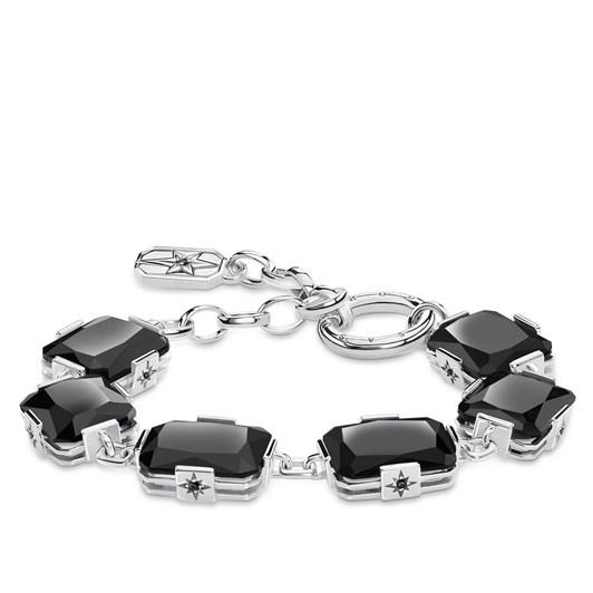 Thomas Sabo Bracelet Large Black Stones