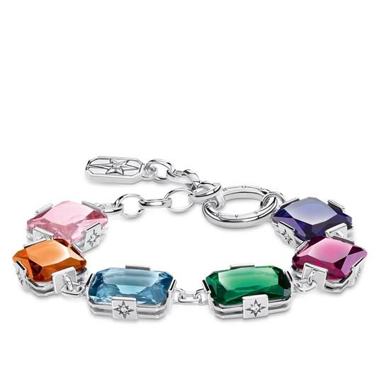 Thomas Sabo Bracelet Large, Colourful Stones - Silver