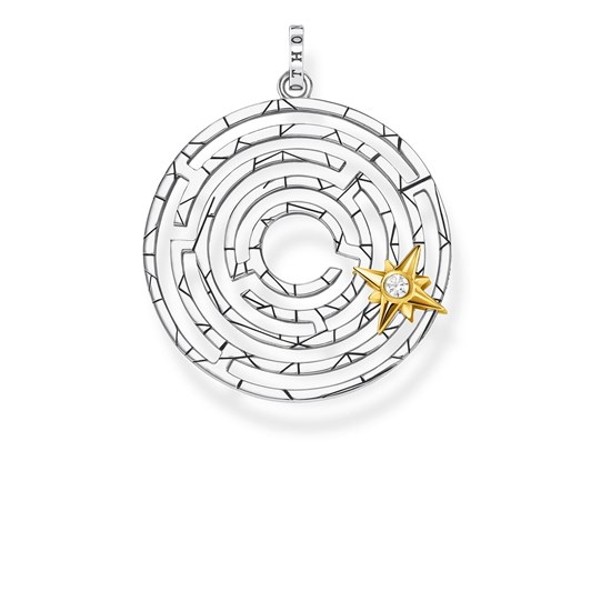 Thomas Sabo #9A Labyrinth Ylw Gp Star Pendant