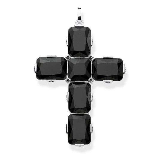 Thomas Sabo #9A Magic Stones Black Onyx Cross Pendantt