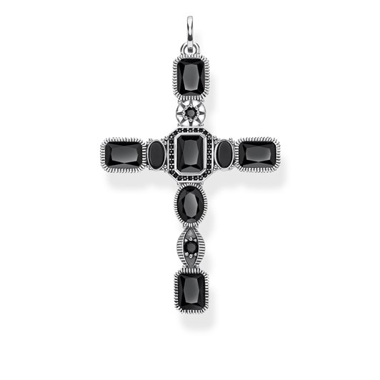 Thomas Sabo #9A Magic Deco Black Onyx Cross Pendant
