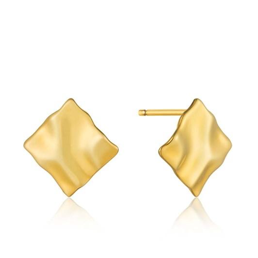 Ania Haie Metal Crush Mini Square Stud Earrings