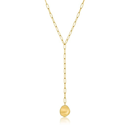 Ania Haie Metal Crush Disc Y Necklace