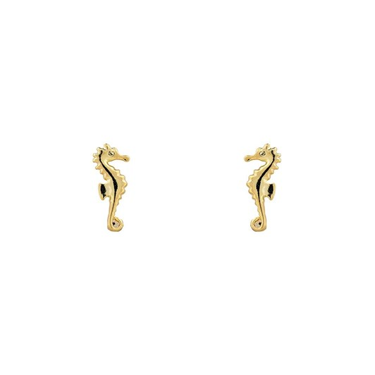 Short Story Earring Seahorse Gold