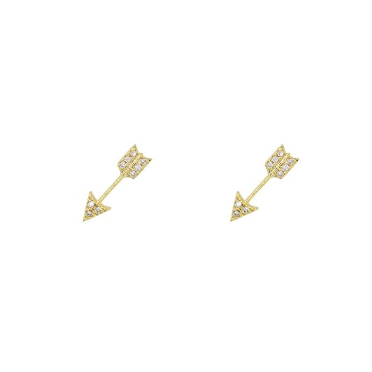 Short Story Earring Arrow Diamante Gold