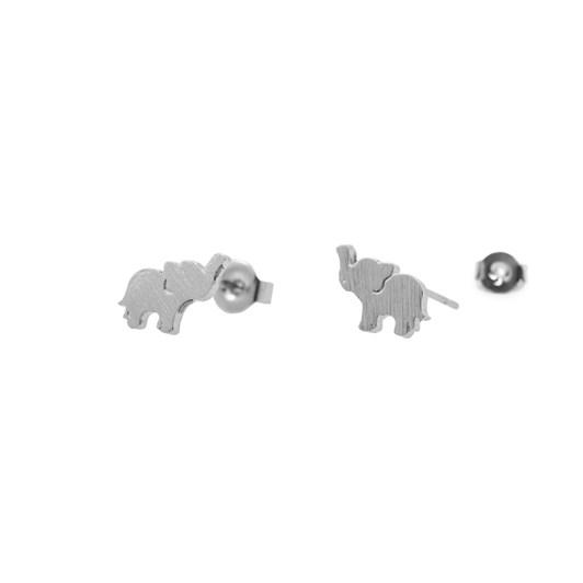 Short Story Earring Baby Elephant Silver