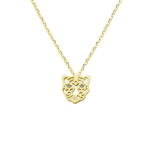Short Story Necklace Tiger Stencil Gold
