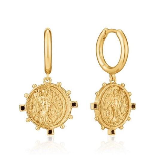 Ania Haie Gold Digger Victory Goddess Mini Hoop Earrings