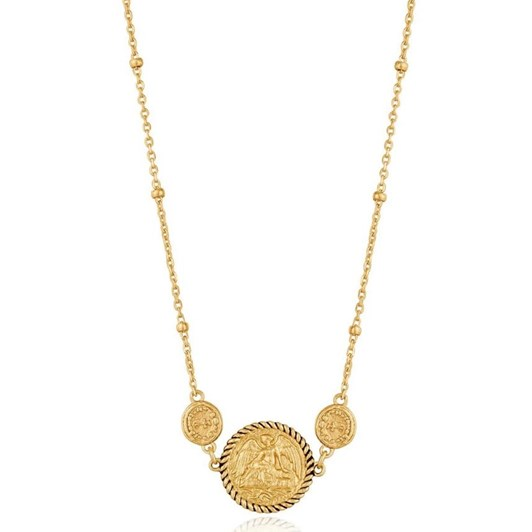 Ania Haie Gold Digger Winged Goddess Necklace