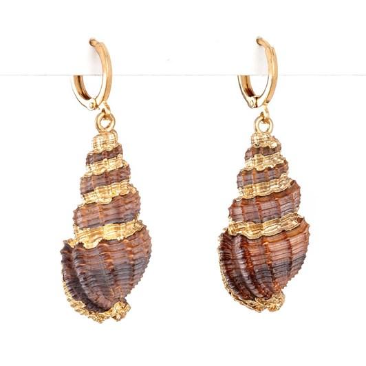 Stella & Gemma Earring Pink Snail Shell