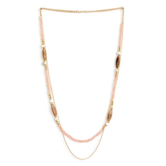 Stella & Gemma Necklace Rose Double Chain W/Bullet