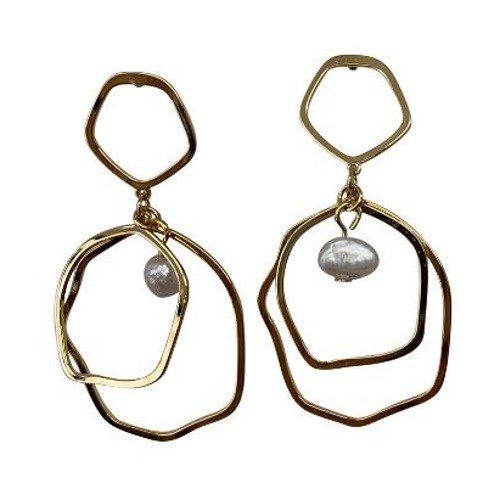 Gregory Ladner Multi-Hoop Drop Earrings