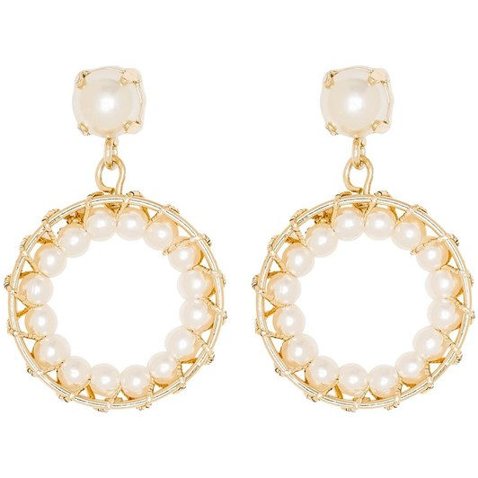 Gregory Ladner Pearl Hoop Drop Earring