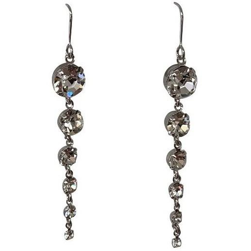 Gregory Ladner Multi Crystal Drop Earrings