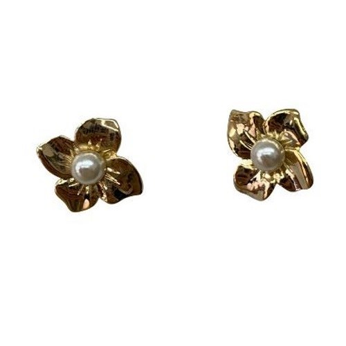 Gregory Ladner Pearl Stud with Wave Earrings