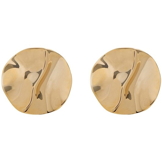 Gregory Ladner Circle Disc Clip-On Earrings