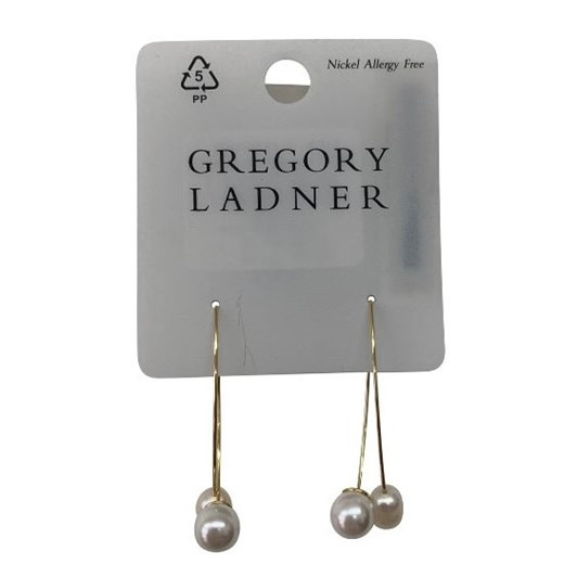 Gregory Ladner  Double Pearl Thread Through Earring