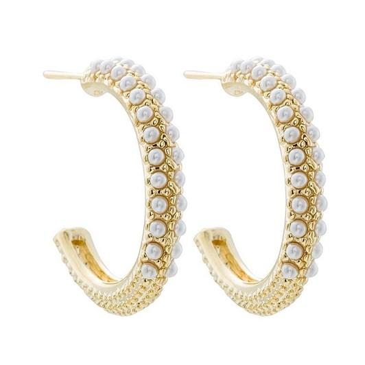Gregory Ladner Mini Pearl Hoop Earring