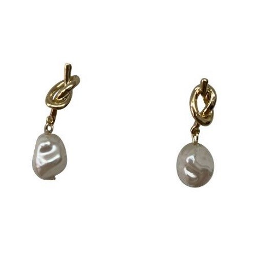 Gregory Ladner Knot Pearl Earrings