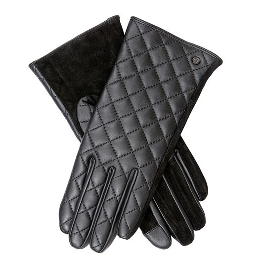 Dents Women's Touchscreen Quilted Leather Gloves
