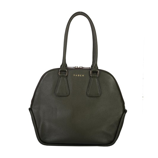 Saben Olive Leather Handbag