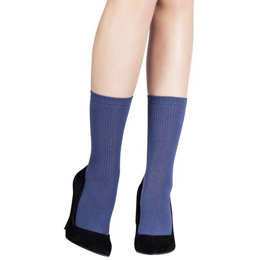 Emilio Cavallini Ribbed Viscose/Cashmere Socks