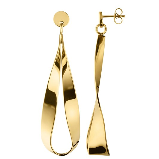 Dyrberg Kern Arc Shiny Gold Earring