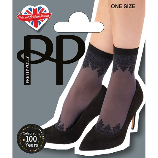 Pretty Polly Patterned Top & Toe Anklet