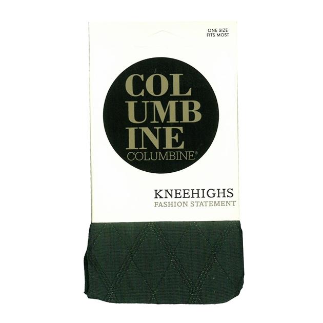Columbine Argyle Kneehigh - black