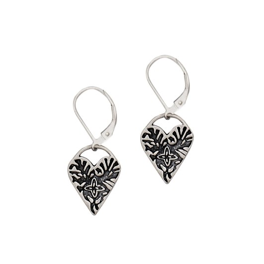 Petite Grand Face And Engraved Heart Earrings