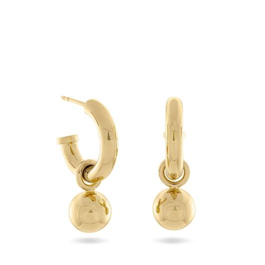 Monarc Jewellery Scout & Ball Hoops Gold Vermeil