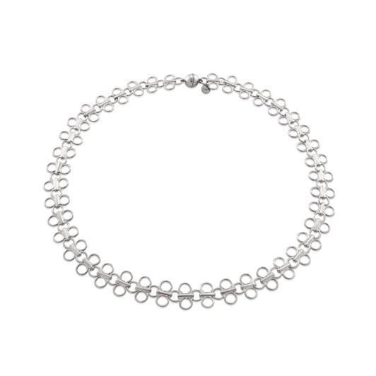 Monarc Jewellery Lolita Linked Choker Necklace Silver