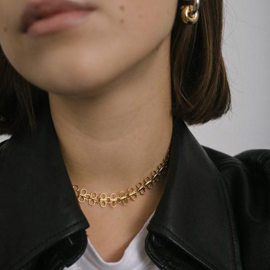 Monarc Jewellery Lolita Linked Choker Necklace Gold Vermeil