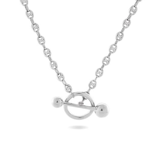 Monarc Jewellery Dagny T-Bar Necklace Silver