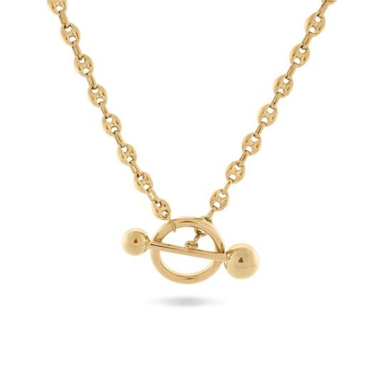 Monarc Jewellery Dagny T-Bar Necklace Gold Vermeil