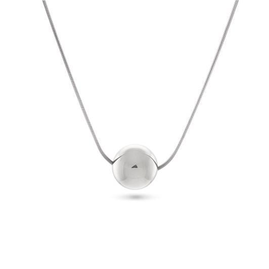 Monarc Jewellery Josephine Orb Necklace Silver