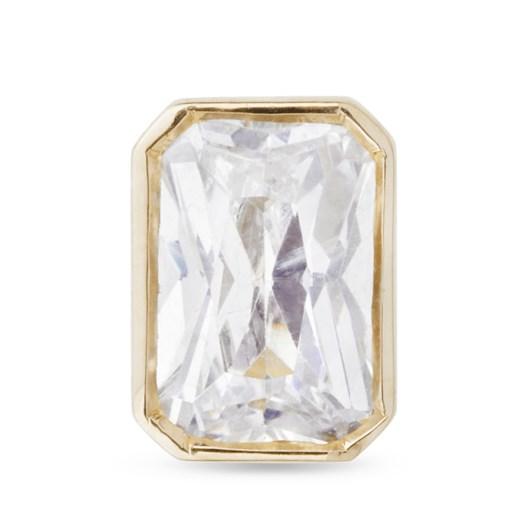 Monarc Jewellery Thea Diamond Solitaire Stud Earring Emerald-Cut