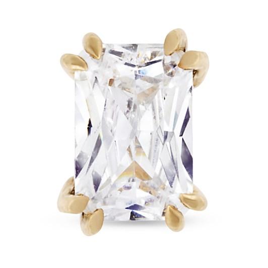 Monarc Jewellery Empress Diamond Solitaire Stud Earring Emerald-Cut