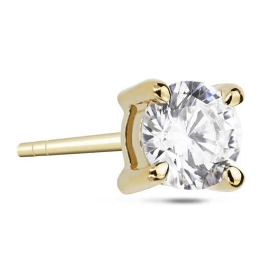 Monarc Jewellery Coeur Diamond Solitaire Stud Earring Brilliant Cut