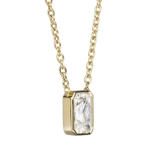 Monarc Jewellery Thea Diamond Solitaire Necklace Emerald-Cut