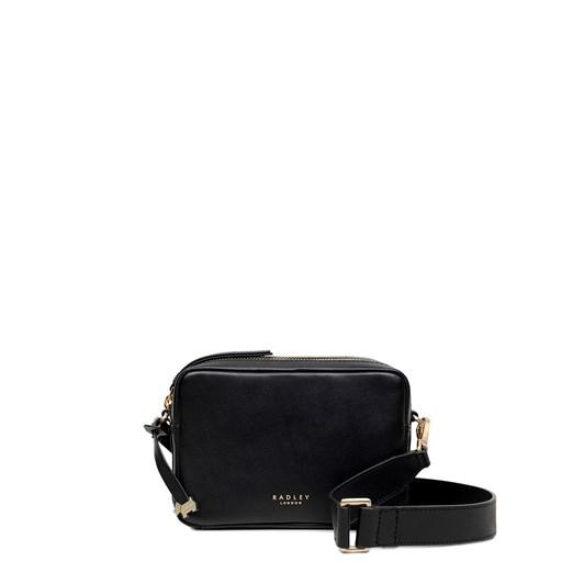 Radley Alba Place (Camera) Leather Zip Around Crossbody Black