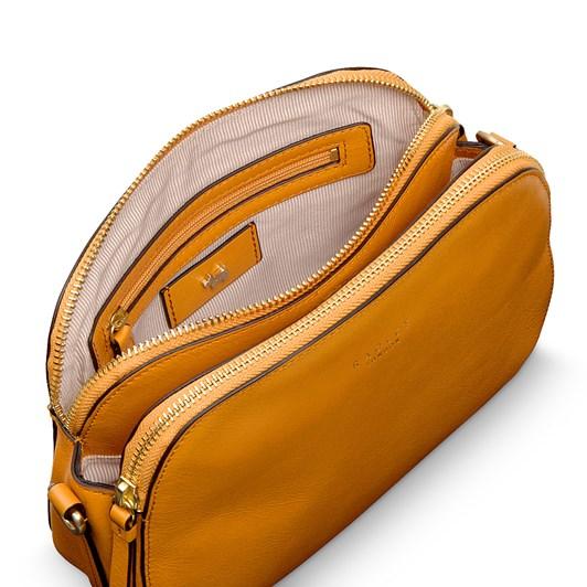 Radley Dukes Place Leather Ziptop Crossbody Buttercup