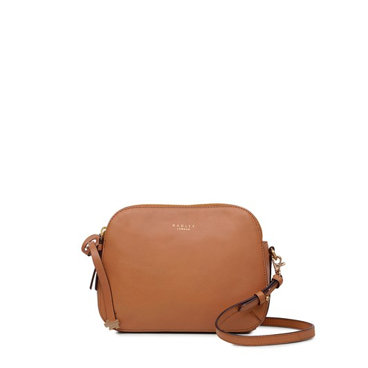 Radley Dukes Place Leather Ziptop Crossbody Dark Butter