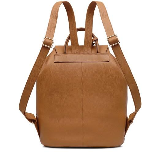 Radley Ada Street Leather Flapover Backpack Dark Butter